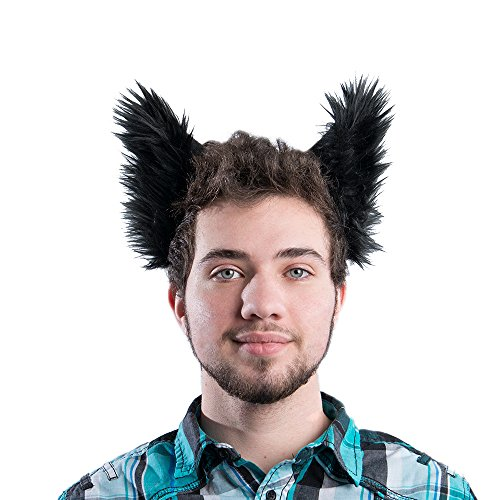 Pawstar Classic Wolf Ear Headband Costume Furry Ears - Black