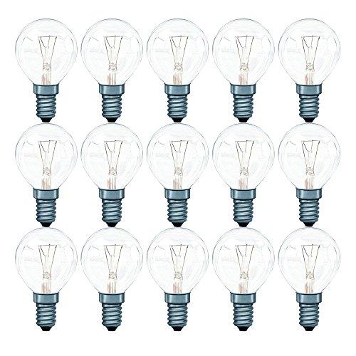 16 x Paulmann Glühbirne Tropfenlampe 40W E14 Klar Glühlampe 40 Watt Glühbirnen Glühlampen 117.40 warmweiß dimmbar