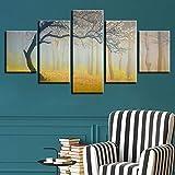 Lienzo Papel Pintado Lienzo De Pintura Colgante Pintura Creativo Niebla Bosque 5 Hechizo Pintura Decorativa De Inyección De Tinta En Casa Dormitorio