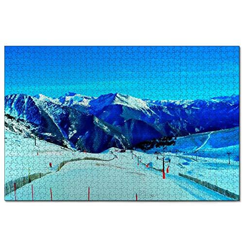 Andorra Arinsal Rompecabezas de 1000 Piezas para Adultos y familias, Regalo de Viaje de Madera, Recuerdo de 30 x 20 Pulgadas