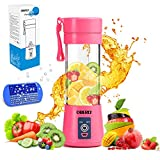 Portable Blender, OBERLY Smoothie Juicer Cup - Six Blades in 3D, 13oz Fruit Mixing Machine with...
