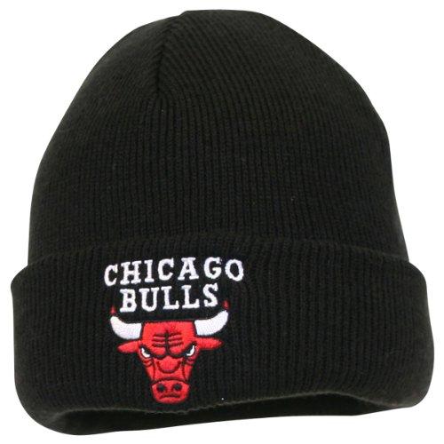 adidas Chicago Bulls Basic Logo Cuffed Pom Knit Beanie Hat/Cap