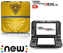 Ci-Yu-Online VINYL SKIN [new 3DS XL] - The Legend of Zelda: Triforce Heroes Hyrule #1 Yellow Gold - Limited Edition STICKER DECAL COVER for NEW Nintendo 3DS XL / LL Console System