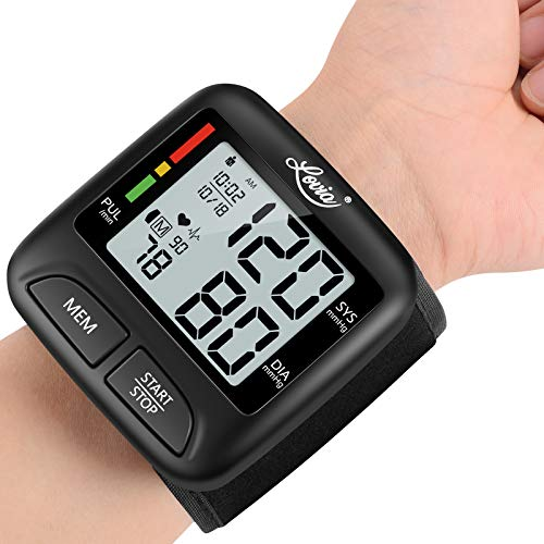Blood Pressure Monitor Wrist Cuff, Digital BP Machine for Home Use with Portable Thickness 0.83 Inch, Dual Users Mode, 30s Readings