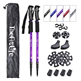 TheFitLife Nordic Walking Trekking Poles - 2 Packs with Antishock and Quick Lock System, Telescopic,...