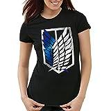 A.N.T. Titanes Legión de Reconocimiento Camiseta para Mujer T-Shirt, Talla:M