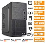 - CeO Alpha V4 - PC Desktop AMD 200GE 3.20GHz 4MB Cache | 16GB Ram DDR4 | 500GB SSD |Scheda Grafica Radeon Vega 3 | FULL HD / 4K | DVD |WI-FI | USB 3.0 | WINDOWS 10 PRO