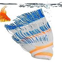 水族館の魚のための人工アネモネ珊瑚、シリコーンアネモネ珊瑚海洋世界観シミュレーション(yellow)