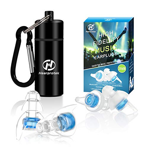 High Fidelity Concert Ear plugs, Hearprotek 20db Noise Reduction Music...