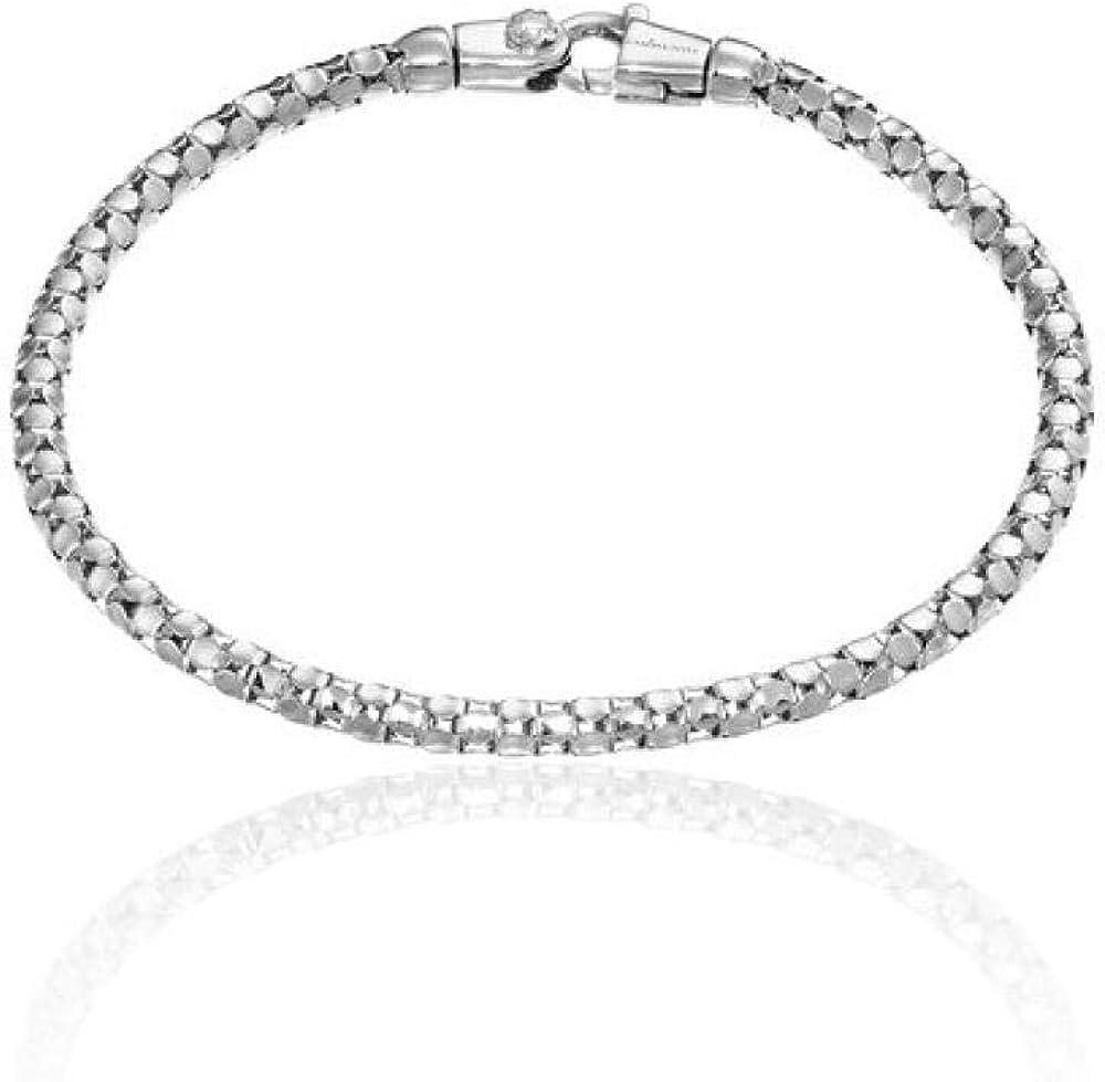 Chimento,bracciale per donna,in oro bianco 18k(5,88gr) con diamanti da 0,03 carati 1B00961ZB5180