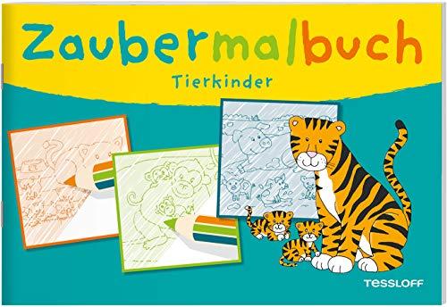 Zaubermalbuch. Tierkinder: Mit magischen Zauberseiten (Malbücher und -blöcke)