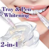 2-in-1 Combo Max Teeth Whitening•Teeth Whitening Pen + Teeth Whitening 3D Insta-Mold Tray•No Hot Water•Matching Contour of teeth 100%【FW+PLUS】