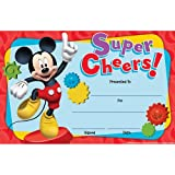 """Each pack contains 36 identical awards Each card measures 8 .5 x 5.5"""" Featuring the well known and loved characters from Mickey Mouse Clubhouse Reward progress and achievement with cheerful awards children are proud to take home The Paper Magic Group..."""