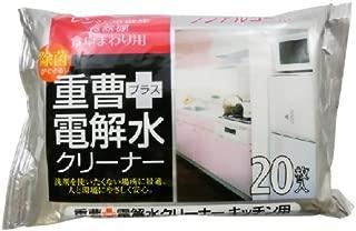 【まとめ買い】友和 重曹+電解水 キッチンクリーンシート 20枚入 ×2個