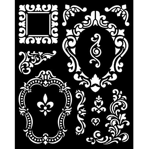 Stamperia International Marco grueso de la plantilla Alice, varios, 20 x 25 cm