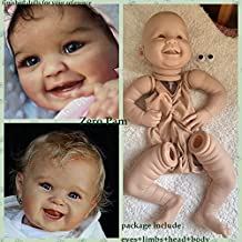 DIY Doll Making Supplies Newborn Girl Dolls Kits Lifelike Realistic Babies Dolls Reborn Toddler Doll for Nursing Practice Photography Unpainted Reborn Doll awstroe Reborn Doll Kits 18Inch 18inch