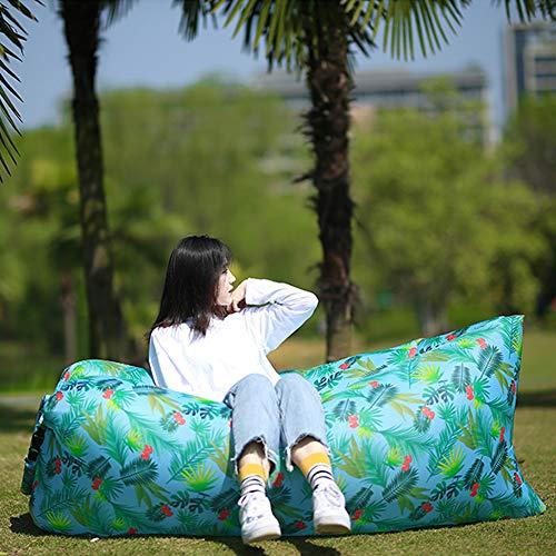 YDJGY Air Sofa Faltbare Aufblasbare Liege Mit Tragetasche, Wasserdichtes Anti-Air Leaking Air Sofa, FüR Reisen, Camping, Wandern Und Strandpartys, Schlafen,Clear