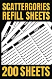 Scattergories Refill Sheets: 200 Paper Sheets for Playing Scattergories   Score Game Record Book   Keep track of who ahead in your Board Game
