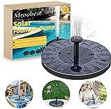 Solar Springbrunnen, Solar Fountain, Solarbrunnen Schließen Sie verschiedene Düsen an, um verschiedene Arten von Wasser zu sprühen, geeignet für Gärten, Vogelteiche, kleine Teiche und...