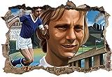 Ultras-Art Fussballspieler Schalke, 3D Wandsticker Format: