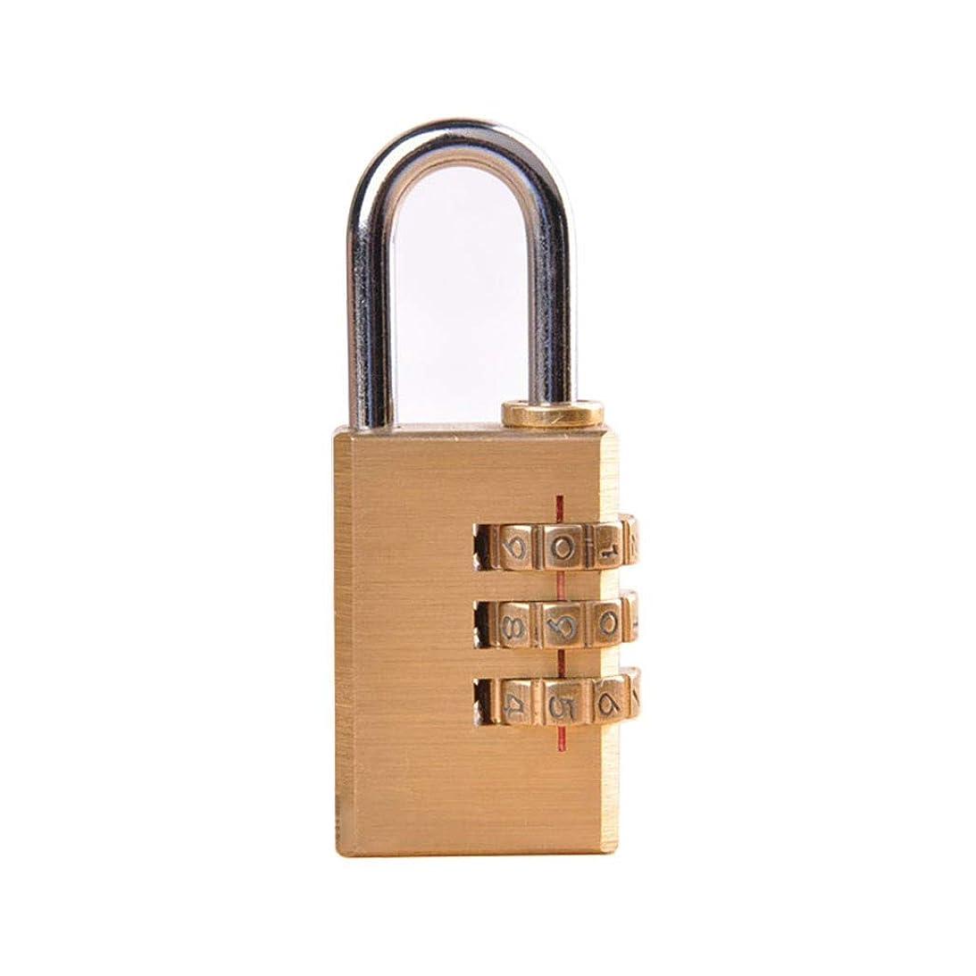 行列サスティーンシネマポータブルコンビネーションパスワード南京錠、銅コードロック3桁デジタル盗難防止防水真鍮南京錠、屋内と屋外に適した