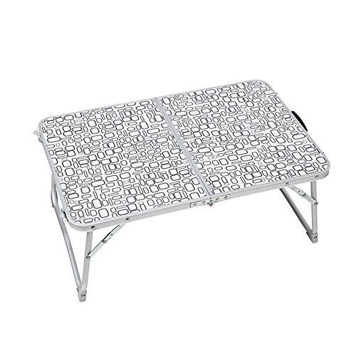 HAKN Table Rectangulaire Pliante, Plateau De Table en MDF, Ceinture De Transport Légère, Support en Alliage D'aluminium, Antidérapante, Capacité De Charge De 30 Kg, 2 Couleurs Table Portable