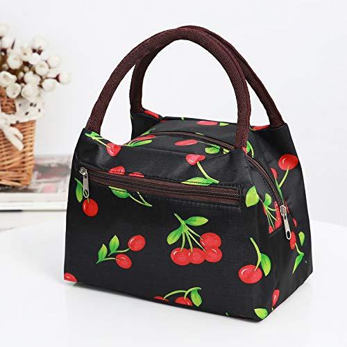 Bento Tasche wasserdicht Mumie Tasche Damen Tasche Lunchbox Tasche Handtasche Reißverschluss Kirsche
