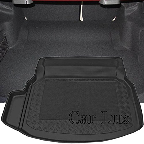 Car Lux AR01512 – Tapis de protection pour coffre avec antidérapant et bord haut