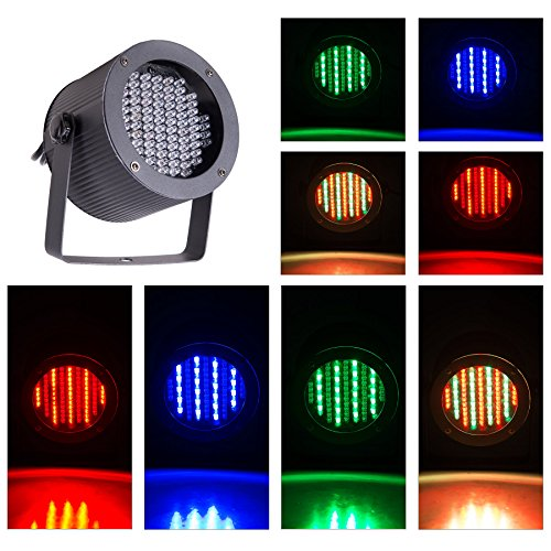 CO-Z 8pcs DMX Controlled LED Stage Lights, 86 RGB Sound Activated Par Can Wash Stage Effect Lighting for DJ Light Show Home Party Festival Bar Club Wedding Church Uplighting (8PCS)