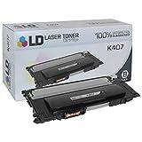 LD Compatible Toner Cartridge Replacement for Samsung K407 CLT-K407S (Black)