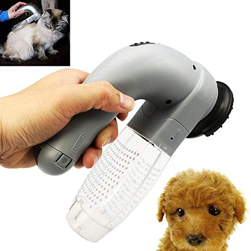 Kukakoo 2019 Automatic Vacuum Cleaner, Multiple Cleaning Modes Best for Pet Hairs, Hard FloorHandheld Rechargeable Pet Dog Cat Hair Fur Remover Vacuum Cleaner Comb Trimmer