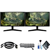 LG 27MP59G-P 27' 16:9 IPS Gaming Monitor (27MP59G-P) with HDMI Cables, Surge Protector, and Cleaning Kit
