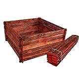 BLIZNIAKI ECO Composteur en Bois 95 x 95 x 46 cm