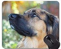 ジャーマン・シェパード犬マウスパッド、犬パーソナライズされた長方形のゲーミングマウスパッド