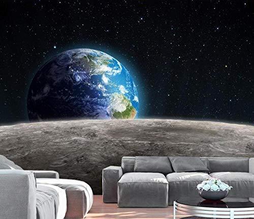 3D vliesbehang persoonlijkheid artistiek schilderij 3D fantasy sterrenboom bloemen en vogels universum Galaxy planet fotobehang wandschilderij woonkamer achtergrond @ 430 * 300