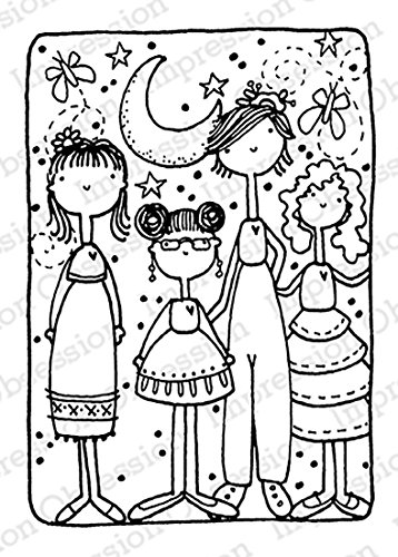 Impression Obsession IO - My Tribe - Girlfriend Power Cling Rubber Stamp E19764