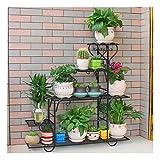 Indoor Outdoor Metal Plant Stand Flower Plant Holder Stand Bronze Ladder Rack Shelf