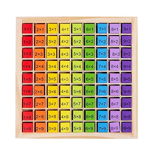 Nuevos juguetes educativos Montessori Juguetes educativos de madera para niños 99 multiplicación tabla de matemáticas aritmética