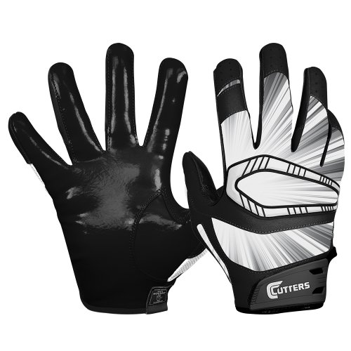 Cutters Gloves REV Pro Receiver Glove (Pair), Solid Navy, Medium