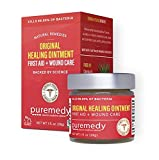 Puremedy Original Healing Ointment Salve - Homeopathic Wound Treatment for Minor Burns, Itching, Ulcers for Adults, Kids, Pets (1oz)
