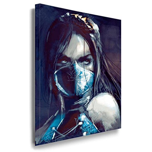 Mortal Kombat Leinwandbild / LaraArt Bilder / Mehrfarbig + Kunstdruck g49 Wandbild 60 x 40 cm