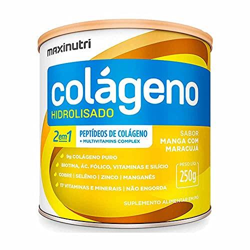 Colágeno Hidrolisado 2 em 1 Zero (250G) - Sabor Manga C/ Maracujá, Maxinutri