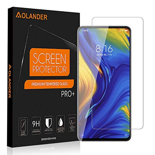 [2 Pack] Aolander Xiaomi Mix 3 Screen Protector,[2.5D Round Edge] [9H Hardness] [High Definition] [Bubble Free] Tempered Glass Screen Protector for Xiaomi Mix 3