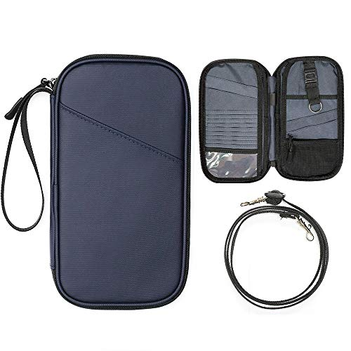 パスポートケース 通帳ケース RFID スキミング防止 軽量 大容量 防水 航空券収納 海外旅行 トラベルポーチ