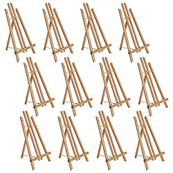 professional US Art Supply 18-inch A-shaped desktop easel (12 packs) for artists, beech …