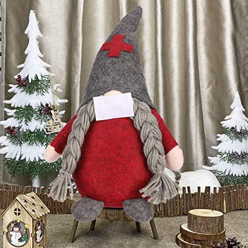 EKKONG Peluche di Pomodoro Gnomo di Babbo Natale Alto 25 cm, Babbo Natale Svedese, Confezione Festiva di Bambole di Babbo Natale Gnomo Svedese, Regali Nani scandinavi per Bambini Famiglia (B)