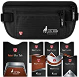 RFID Money Belt Pouch for Travel with RFID Blocking Sleeves Set for Daily
