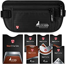 Travel Money Belt for Women or Men hidden passport and money Came With RFID Blocking Sleeves Set for Daily Use