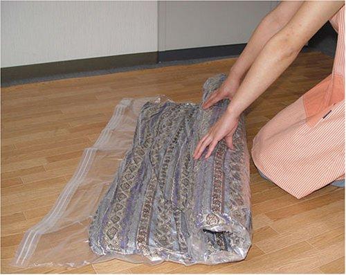 オリエント羽毛ふとん圧縮袋いたわり収納まるめるタイプ120×92cm