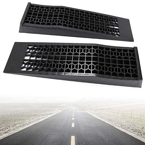 Yonrux 1 paar oprijbrug per 1,5 T universele laadrail plastic auto oprijplaat slipvast laadhelling aanhangwagen oprit platform oprijplaat voor auto motorfiets quad zwart